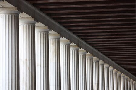 receding: Columns receding into the distance Stock Photo