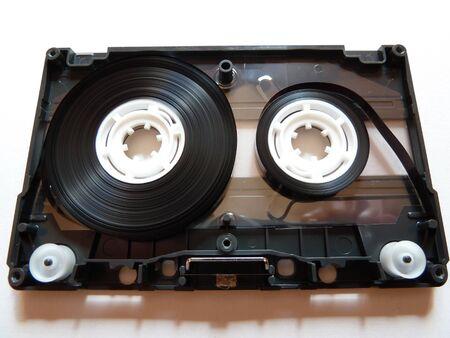 innards: isolated cassette tape innards on white background