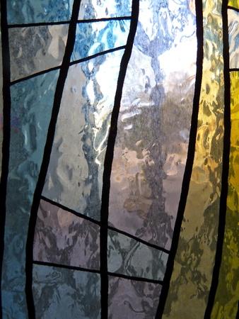 glas kunst: deel van glas in lood raam