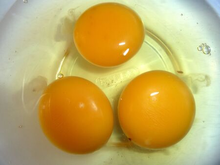 fresh raw eggs in a bowl  photo