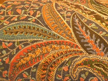 william morris design paisley fabric photo