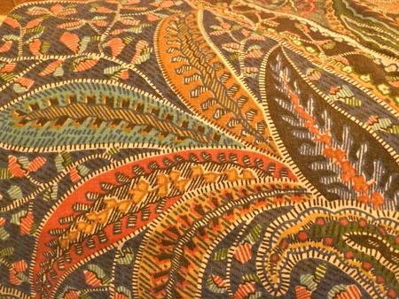 william: william morris design paisley fabric Stock Photo