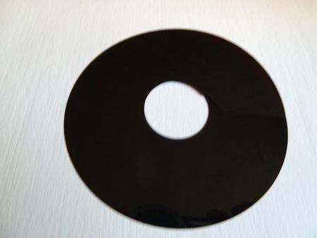 closeup of a damaged floppy disc photo