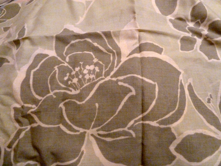 Brown flower design on some fabric Stock Photo