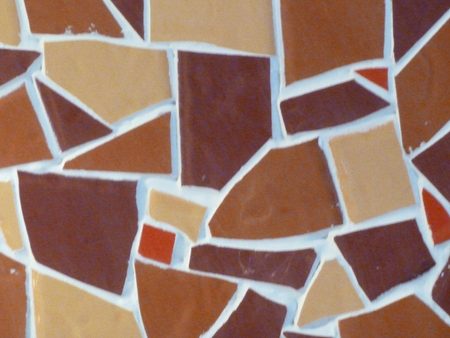 royalty free stock photos: Autumnal tones of a mosaic patterned surface Stock Photo