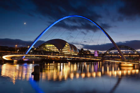 millennium bridge: Gateshead Millenium Bridge Stock Photo