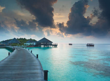 float cloud: Dawn over the Maldives