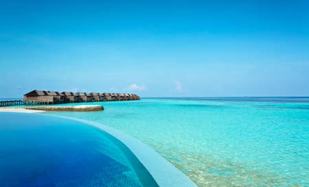 Infinity pool in the Maldives photo