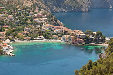 Assos on the Island of Kefalonia in Greece photo