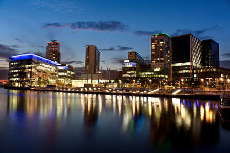 lowry: Media City on Salford Quays Stock Photo