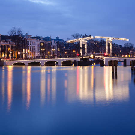 traditionally dutch: Magere Brug bridge in Amsterdam