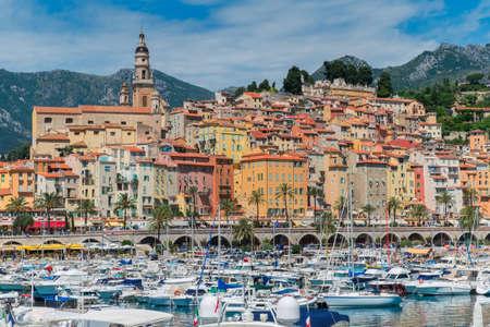 azur: Menton on the Cote D Azur Stock Photo