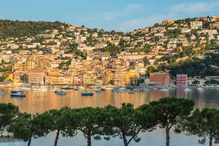 villefranche sur mer: Villefranche sur Mer with morning light streaming acoss the town