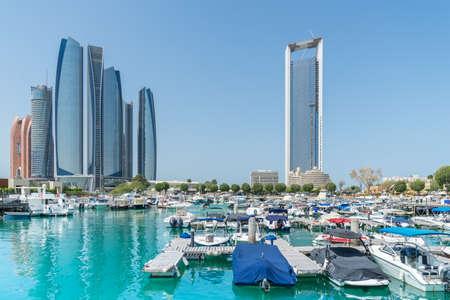 al: Al Bateen boat marina in Abu Dhabi