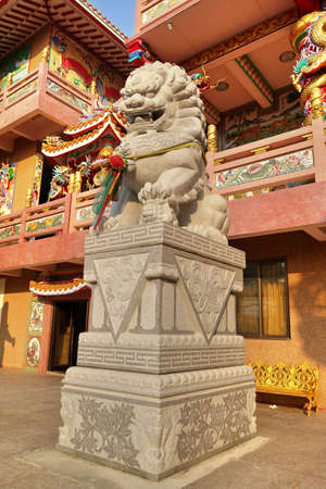 especially: Stone Lion sculpture, symbol of protection  power in Oriental Asia especially China