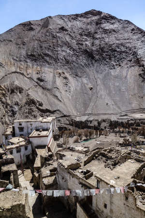 ladakh: Basgo Monastery, Basgo village in Leh District, Ladakh, northern India. Stock Photo