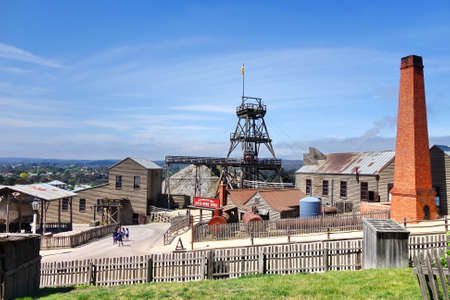 goldmine: Sovereign Hill is an open air museum recreating the atmosphere of a gold rush town in Ballarat, Australia