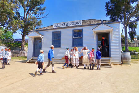 pioneering: Sovereign Hill is an open air museum recreating the atmosphere of a gold rush town in Ballarat, Australia