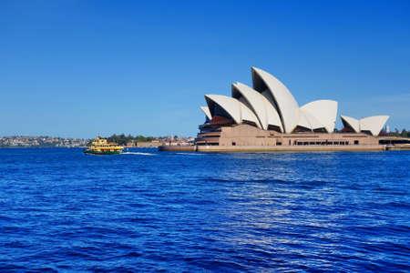 plan éloigné: Longue image de tir de l'Opéra de Sydney Éditoriale