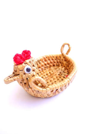 basketry: Little basketry souvenir from Thailand.