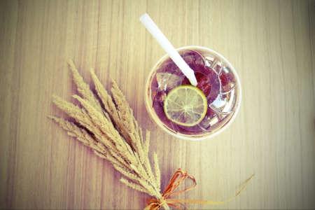 wide  wet: ice lemon tea