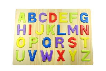 studio b: Colorful wood alphabet isolated on white background