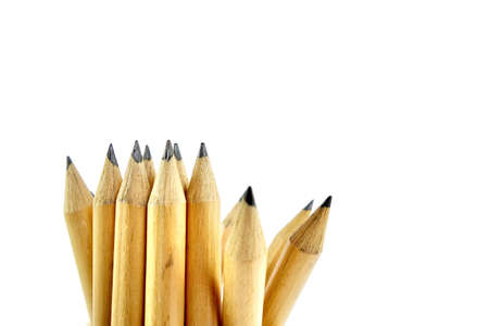 secretarial: Pencils on pure white background Stock Photo