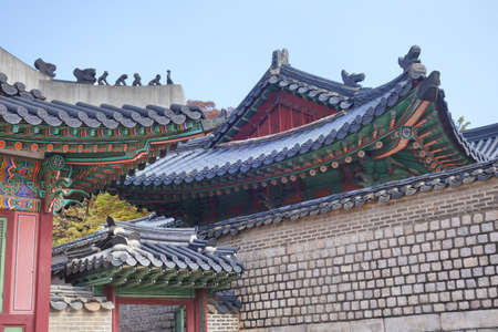 Korean Traditional Architecture Roof Detail Of Palace In Seoul These Places Are Major Tourist