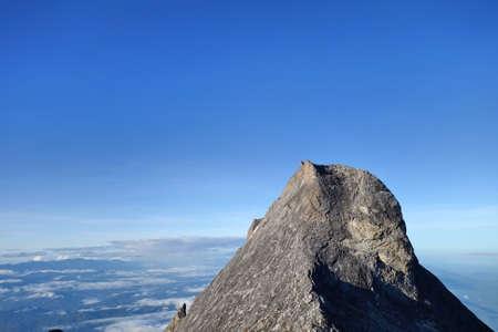 lows: Lows Peak, Summit trail of Mount Kinabalu ,Sabah Malaysia Borneo. Stock Photo