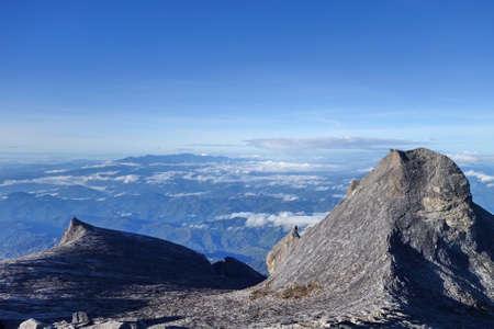 lows: South Peak and Lows Peak, Summit trail of Mount Kinabalu ,Sabah Malaysia Borneo. Stock Photo