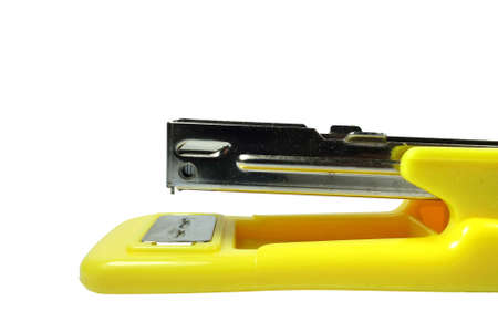 Closeup stapler isolated on a white background