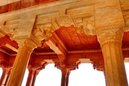 amber fort: architect detail of Amber Fort, Jaipur, India