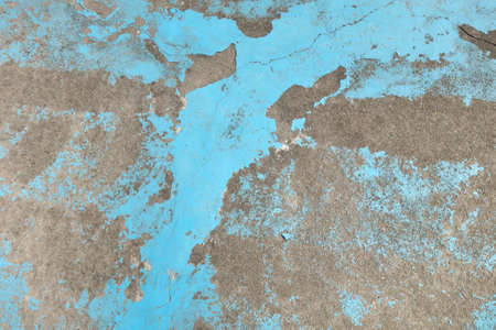 Abandon and ruin painted concrete floor. Stock Photo