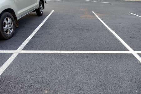 outdoor lighting: car in parking lot Stock Photo