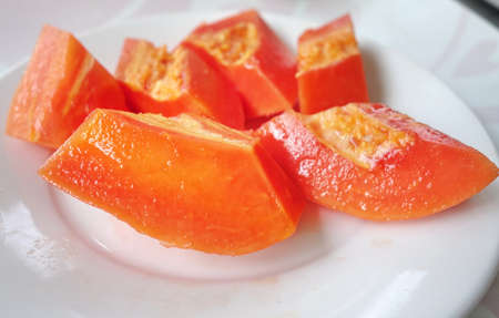 fresh papaya, tropical fruit, plenty of beta carotene and vitamin A