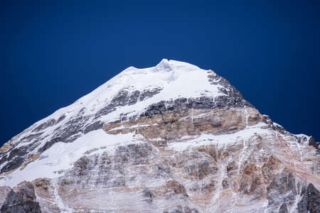 Beautiful snow mountain peak with blue sky in Yading natural reserve,Nature landscape