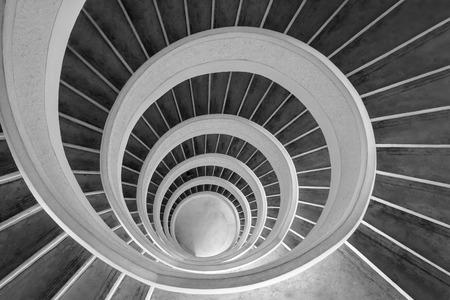 Upward spiral staircase