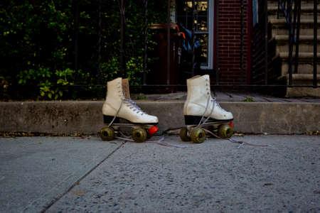 abandonned skates Stock Photo