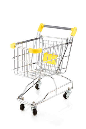 Empty shopping trolley on white background Stock Photo - 13255101