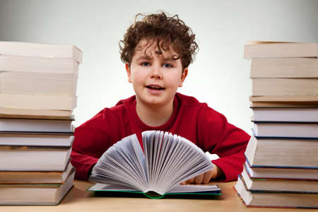 Boy learning  photo