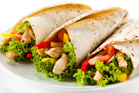 Kebab - grilled meat and vegetables Stock Photo - 13810703