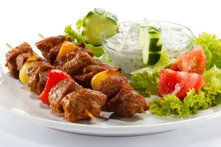 Kebab - grilled meat and vegetables Stock Photo - 14304226