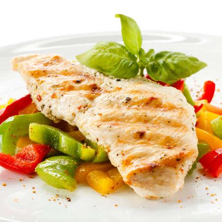 Filet de dinde grillée et légumes Banque d'images