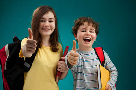 Students showing OK sign  photo