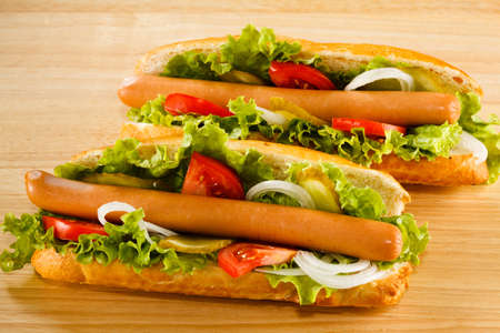 hot dogs: Hot dog Stock Photo