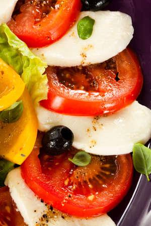 sliced cheese: Caprese salad Stock Photo