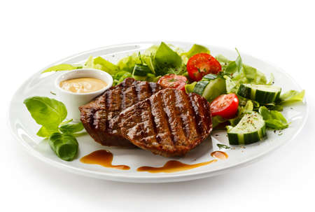 Grilled steaks and vegetables Stock Photo - 15566486