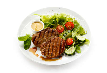 Grilled steaks and vegetables Stock Photo - 15566484