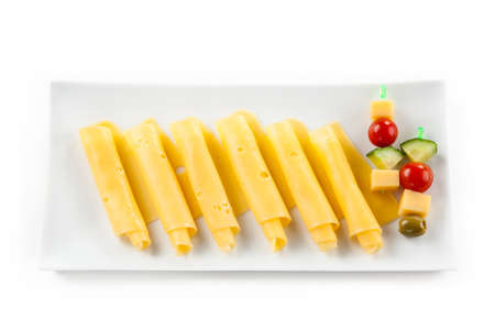 sliced cheese: Yellow cheese