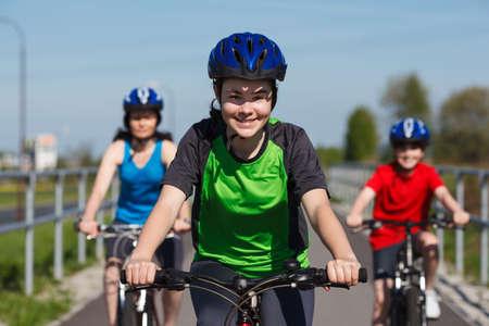 40 45: Cyclists Stock Photo
